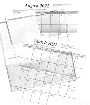 2 Year 2021 2022 Pocket Calendar Planner with Cover Card Stock and Note Pad Do It Yourself Kit  1 Kit