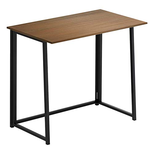FB FunkyBuys Compact Folding Computer Desk Home Office Laptop Desktop Table Simple Small Home PC Laptop Table Study Desk (Walnut)
