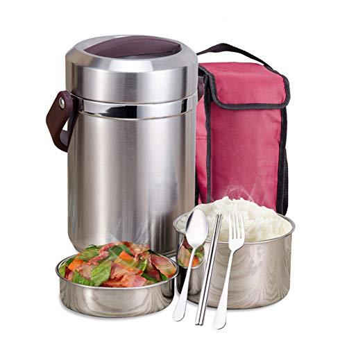 Thermobehälter Isolierbehälter Warmhaltebox Box Lunch Becher Edelstahl Isolier Behälter Für Warme Speisen Babynahrung Essen Suppe,1.6L