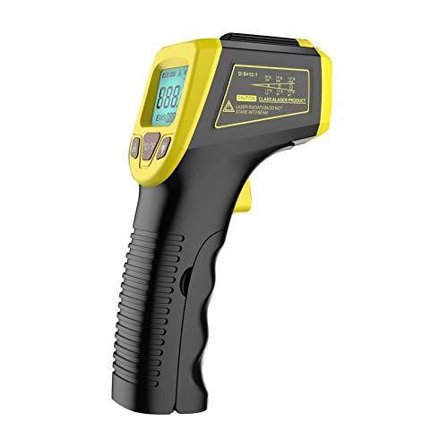 KKmoon Digital Infrarot Thermometer -50 bis +600°C, IR Pyrometer berührungslos Temperaturmessgerät Temperaturmesser LCD Beleuchtung Gelb