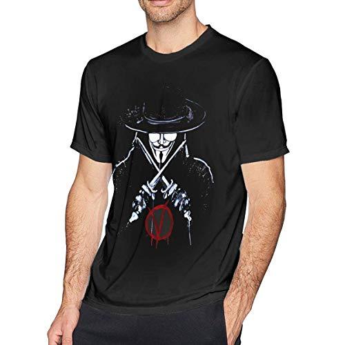 AOCCK Sportbekleidung Herren Kurzarmshirt, Mens Fashion V for Vendetta T-Shirt Black