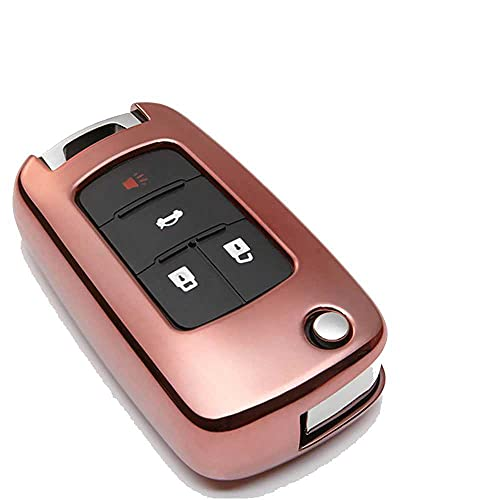 XQRYUB Cubierta de la Caja de la Llave del Coche de TPU, Apta para Buick GT Regal 2018 Cruz Opel Vauxhall para Chevrolet Camaro Malibu Llavero Titular