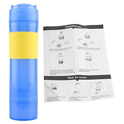 TOPINCN Portable Coffee Press Bottiglia di plastica per caffè, tè caffettiera da Viaggio Bicchiere Acqua Potabile Tazza per i Viaggi 350ml