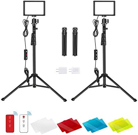 Neewer 2 Packs USB LED Video Light with 433HZ Remote Control Kit Dimmable 5600K Photography product image