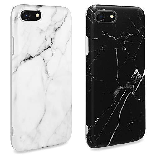 AROYI Coque Compatible avec iPhone Se 2020 Silicone Marbre 2 Pack,Coque iPhone 7,Coque iPhone 8 TPU Flexible Housse de Téléphone Anti Rayures Compatible avec iPhone Se 2020