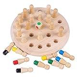 Jsdoin Juego de memoria de madera para niños, juego de ajedrez,...