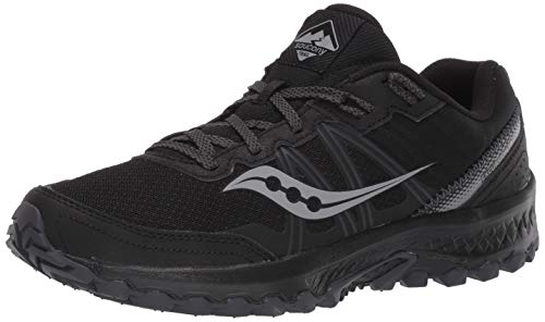 Saucony mens Excursion Tr14 Trail Running Shoe, Black/Charcoal, 9.5 US