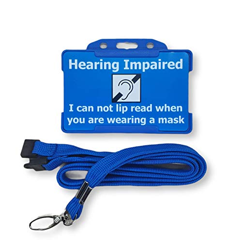 Hearing Impaired - Hearing Impairment - Deaf - Hidden Disability ID Card - Lanyard - Disability...