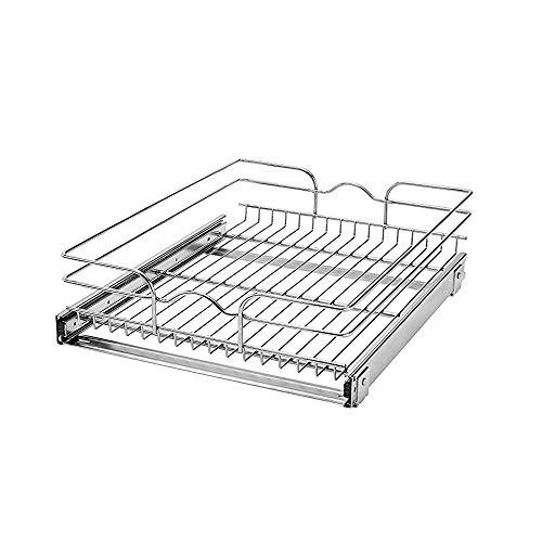 Rev-A-Shelf 5WB1-1522-CR 15-Inch Single Wire Basket Pull Out Storage Shelve...