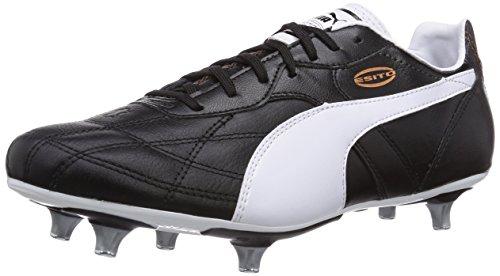 Puma Esito Classico SG, Botas de fútbol para Hombre, Negro-Schwarz (Black-White-Bronze 01), 40.5