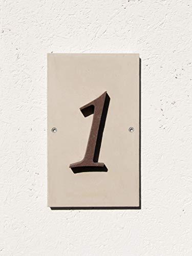 Die individuelle Sandstein-Hausnummer mit Musterbox - 1-stellig