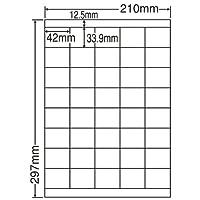 東洋印刷 シートカットラベル A4版 40面付(1ケース500シート) LDZ40U