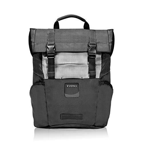 Everki 72587 Roll Top - Laptop Backpack fits up to 15.6-inch – Black