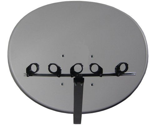 Multifocus Spiegel 91 cm, 5 LNB Halter bis ca. 45 Grad