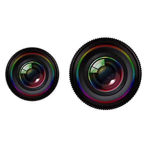 Moonbaby Goede 2 in 1 Universele Telefoon Lens 0.7X Super Wide Hoek + 12X Macro Lens met Clip, Voor iPhone, Samsung, HTC, Sony, Huawei, Xiaomi, Meizu