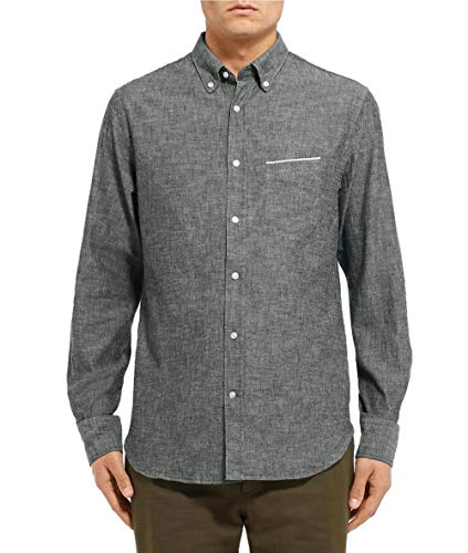 Officine Generale Men's Japanese Selvedge Oxford Button Down Shirt X-Large Olive