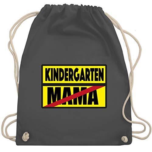 Kindergarten - Kindergarten Schild Mama - Unisize - Dunkelgrau - turnbeutel kindergarten - WM110 - Turnbeutel und Stoffbeutel aus Baumwolle