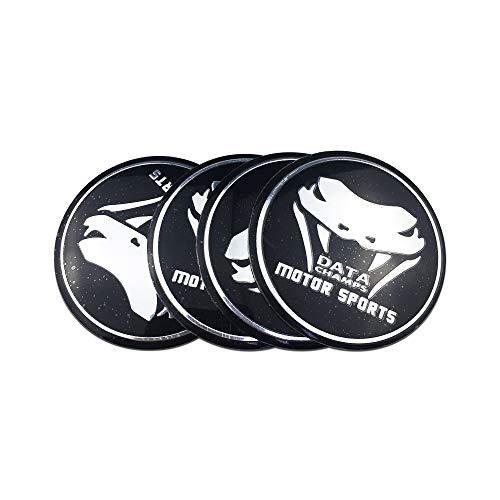 Tapas de la rueda Caps Snake Data Champs 4pcs Sticker Logo Aluminio Emblema Insignia para Fiat Uno Ford Ranger Jaguar S-Type Lexus NX200 Peugeot 206 Jeep Patriot Wheel Center Center Caps Pegatina tapa