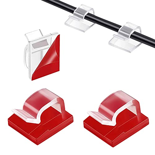 120 Piezas Clips Cables,Cable Organizador,Organizador De Cables Con Adhesivo,GestióN De Cable Para...