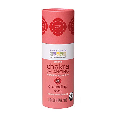 Aura Cacia Certified Organic Grounding Root Chakra Balancing Roll-On | 0.31 Fl. Oz.