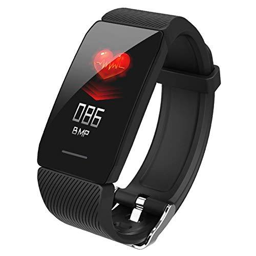 Prettyia Smart Uhr für Android und iOS Telefonen Smartwatch Fitness Tracker Blut Sauerstoff für Frauen und Männer Aktivität Tracker Pedometer - Schwarz