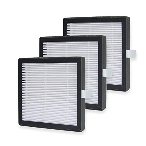 PUREBURG 3-Pack Replacement HEPA Filters Compatible with Afloia(AQ8) / Honati/Hysure/Tenergy Sorbi 2-in-1 Dehumidifier (1000ML)