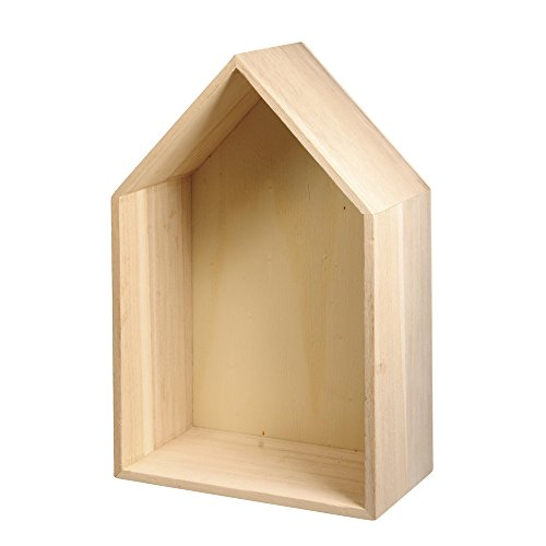 RAYHER 62594000 Holz Rahmen Haus FSC Mix Credit, 24 x 16 x 8 cm