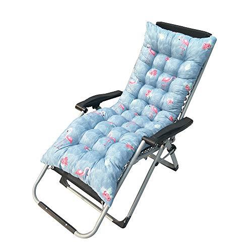 Hanhan Auflage für Gartenmöbel / Sonnenliege / Liegestuhl, mit Bändern
