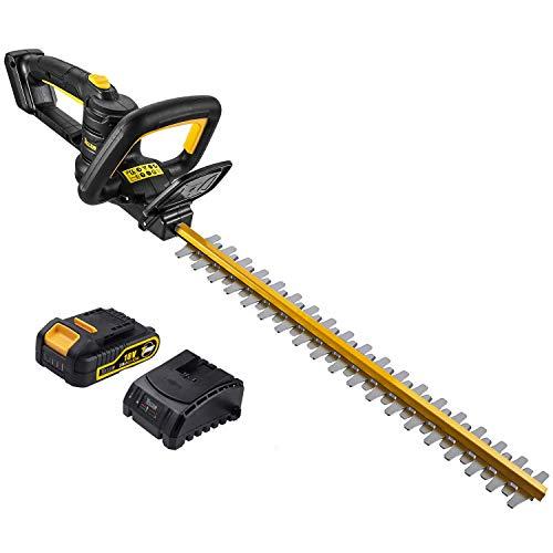 TECCPO Taille-Haie Électrique, 18V Taille-Haies à Batterie, 2.0Ah Taille-Haie sans Fil, 520mm...