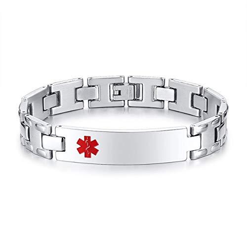 nobrand Personalisierte Edelstahl Armband Uhrenmarken Herren schwarz Farbe Armreif 83209