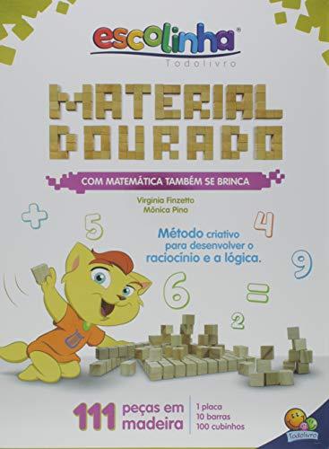 Com matemática também se brinca: Material dourado, a capa pode variar