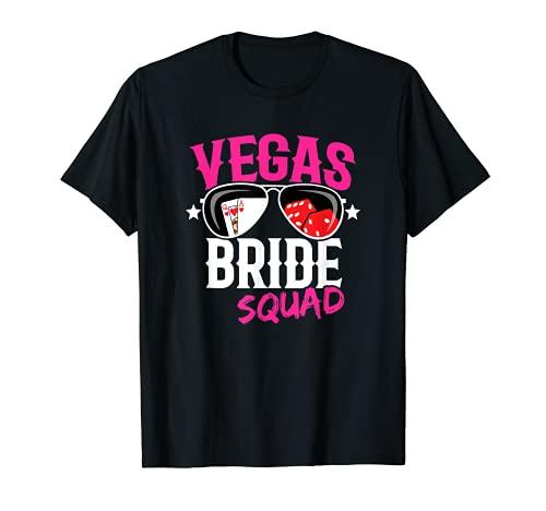 Vegas Bachelorette Party - Casado en Las Vegas - Bride Squad Camiseta