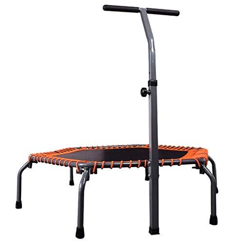 Mini Sport Trampoline for Adultes et Enfants - intérieur et extérieur Trampoline Fitness avec réglable Guidon (106~136 cm) - Pliable for Rangement Facile 53 dans 8bayfa