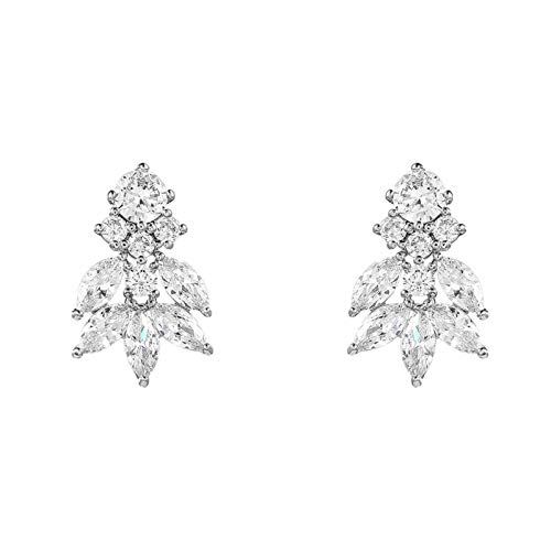 QIN Ventaja de Plomo Cube circonia aretes de Goteo de Cristal Boda o Dama de Honor