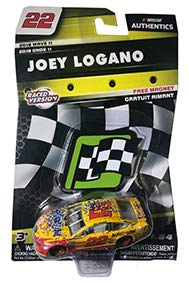 NASCAR Authentics Joey Logano #22 Diecast Car 1/64 Scale - 2018 Wave 11 - with Free Die-Cut Magnet - Collectible