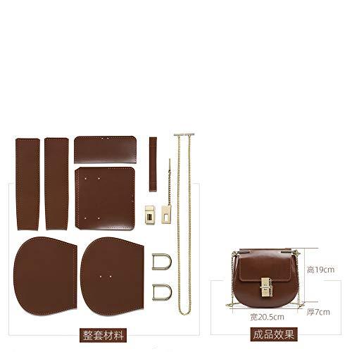 WSXQAZ Bolsos Vintage para Mujer, Bolsos Diagonales De Un Hombro, Bolsos Hechos A Mano De Material De Bricolaje, Regalos Caseros para Niñas
