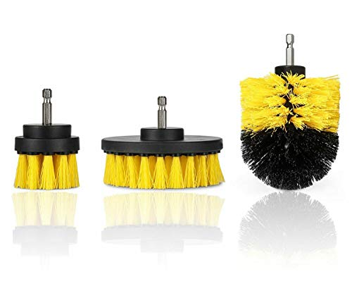 Set Power Scrubber Drill Attachments Drill Brush for Carpet Tile Grout Cleaning #GVE