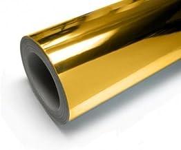 高品質ハイグレード ミラー クロム メッキ カーラッピング ビニール A4 シールステッカー 鏡面 金 ゴールド gold [TARO WORKS]
