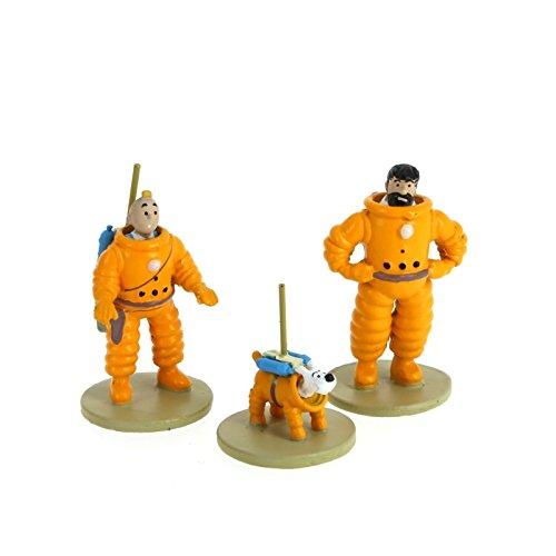 Série de figurines Moulinsart Tintin, Haddock et Milou Cosmonaute 46305 (2016)