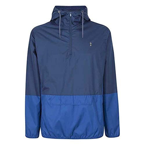 Tottenham Hotspur Herren Showerproof Quarter Zip Jacket Jacke, blau, S