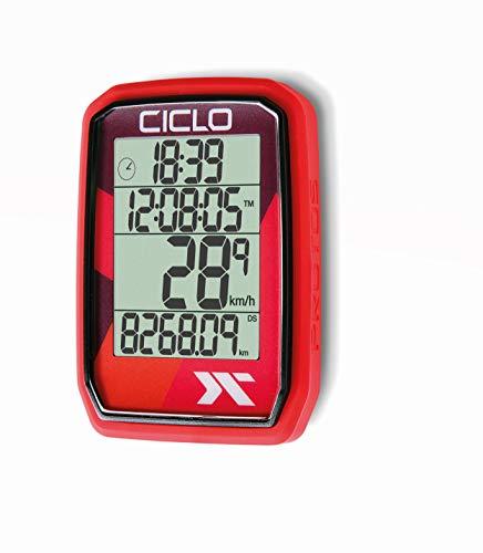 CICLO Unisex– Erwachsene PROTOS 205 Fahrradcomputer, rot, normal