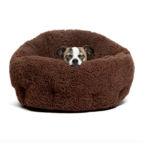 Best Friends by Sheri OrthoComfort Deep Dish Cuddler-Self-Warming Cat and Dog Bed Cushion for Joint-Relief, Waterproof Bottom, Brown