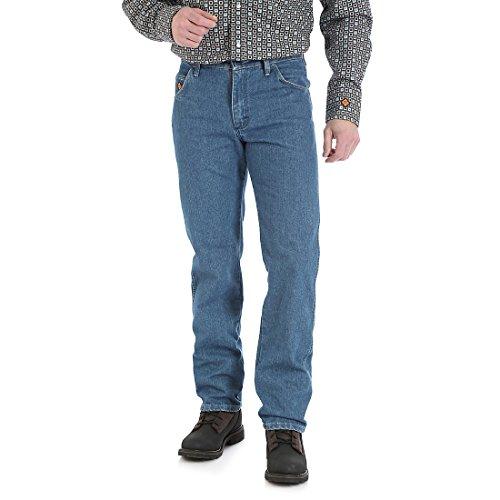 Wrangler Size Men's Flame Resistant Cool Vantage Regular Fit Jean-Tall, True Blue, 34x38