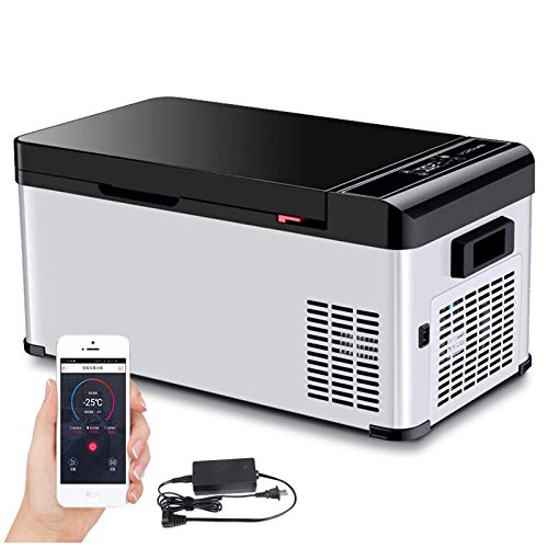 FHKBQ Caja de enfriamiento de 27.2L Mini refrigerador portátil 12V/220V App Control Congelador eléctrico Congelador pequeño -25 ℃ a 20 ℃, se Puede almacenar en frío Cuando se apaga, App,
