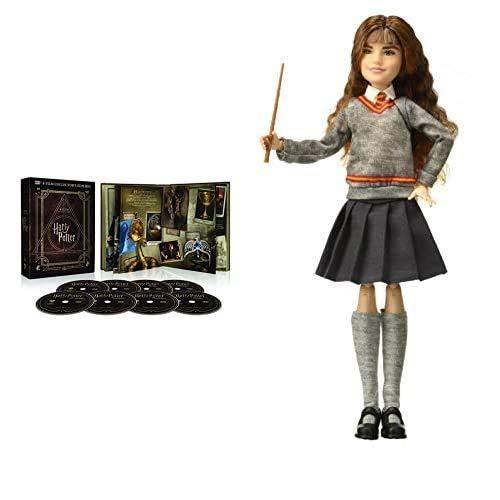 Harry Potter Magical Collection (8 DVD) - Cofanetto, Edizione Digibook (32 pagine) + Harry Potter Personaggio Articolato Hermione Granger, 30 cm, Bambola Giocattolo per Bambini 6 + Anni, FYM51