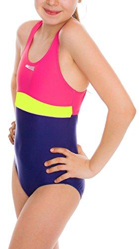 Aqua Speed Mädchen-Badeanzug Emily, 5908217660794, Violett/Rosa/Hellgrün, Größe 164.