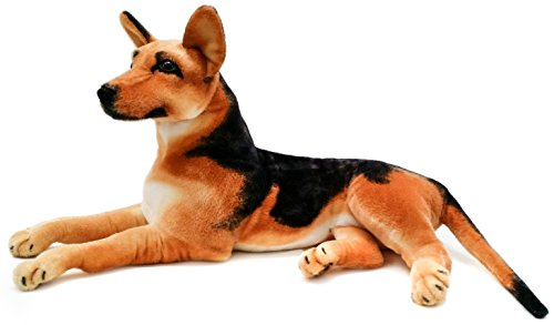 VIAHART Hilde The German Shepherd | 34 Inch (Tail Measurement Not Included!) Big Stuffed Animal Plush Dog | Shipping from Texas | by Tiger Tale Toys