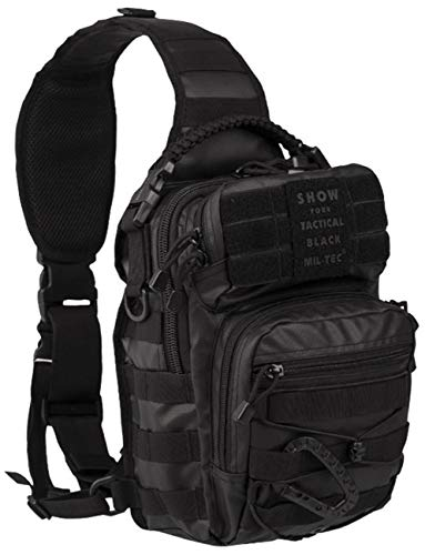 Zaino One Strap Assault Pack piccolo, modello Tactical Black.