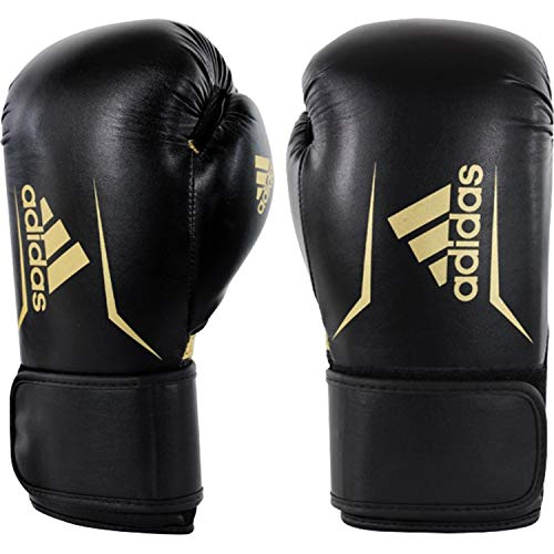 adidas Speed 100 Boxhandschuhe, schwarz - Gold, 14oz