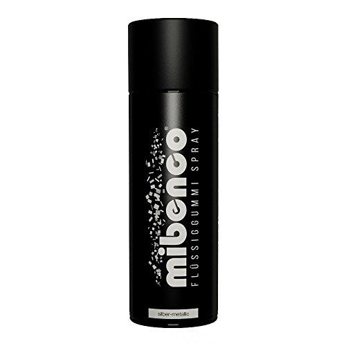 mibenco 71420027 Flüssiggummi Spray / Sprühfolie, Silber-Metallic Matt, 400 ml - Neue Farbe und Schutz für Oberflächen und zum Felgen lackieren